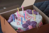 Michelle Tippett, baker extraordinaire, made a sweet treat for Abbie Taylor's birthday celebration.