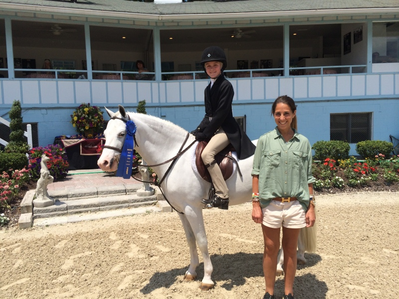 Virginia Bonnie and Wink And Smile won the Pony Hunter Classic at Brandywine Classic I.