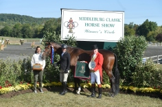 """Leslie Kopp and Gone Country 3'3"""" Amateur-Owner Hunter Champions"""