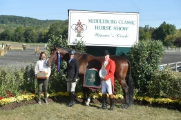 "Leslie Kopp and Gone Country 3'3"" Amateur-Owner Hunter Champions"