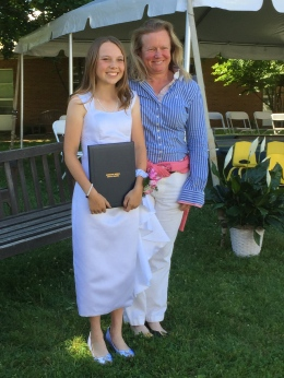 Elizabeth Wiley with Emma Pell at her graduation from Powhatan